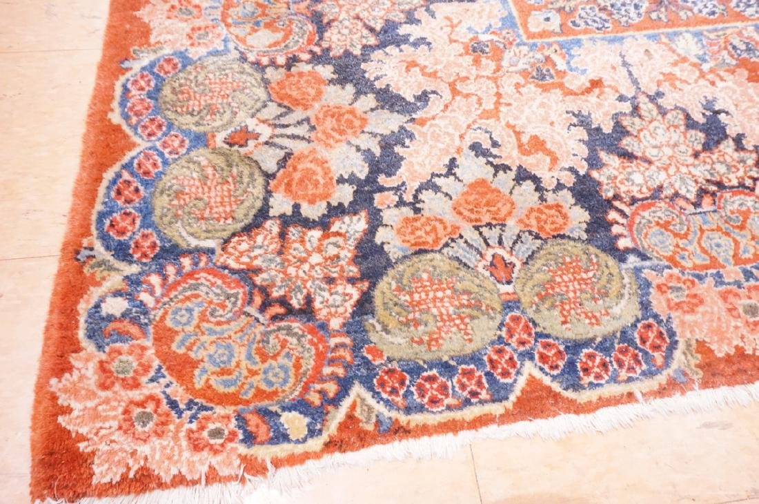 "16' x 10'4"" Handmade Sarouk Carpet Rug. Room Size - 9"