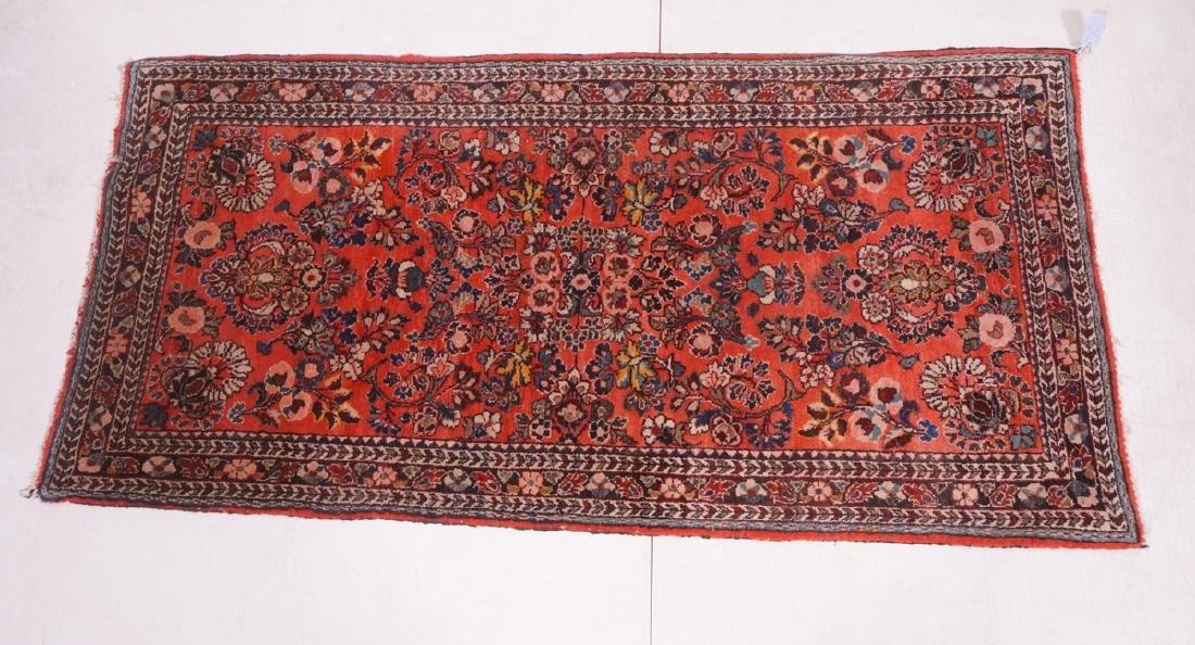 "4'10"" x 2'6"" Handmade Oriental Carpet Rug. Overal"