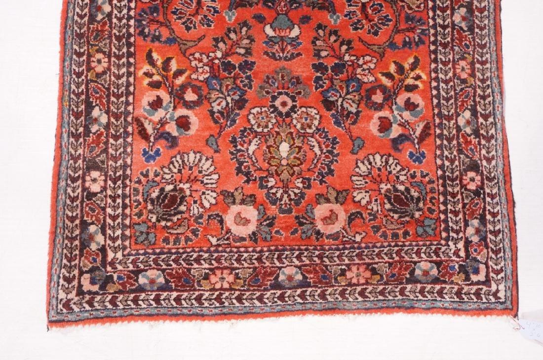"4'10"" x 2'6"" Handmade Oriental Carpet Rug. Overal - 2"