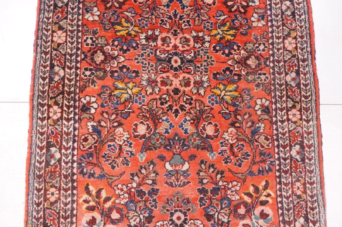 "4'10"" x 2'6"" Handmade Oriental Carpet Rug. Overal - 3"