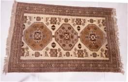 7 x 49 Handmade Oriental Carpet Rug Tan and b