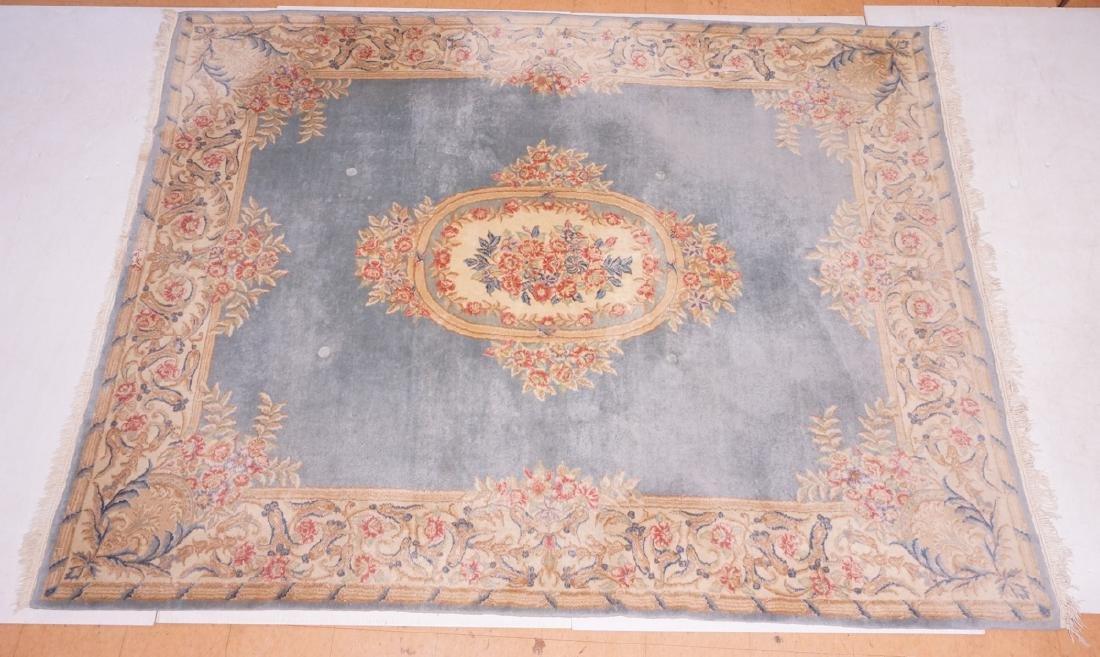 "10'2"" x 7'10"" Handmade Kirman Carpet Rug. Floral"