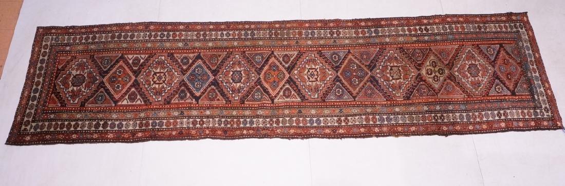 "13'10"" x 3'7"" Handmade Oriental Rug Carpet. Geome"
