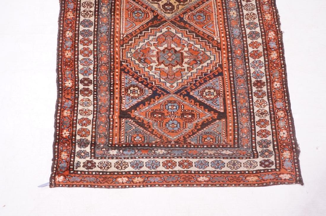 "13'10"" x 3'7"" Handmade Oriental Rug Carpet. Geome - 2"