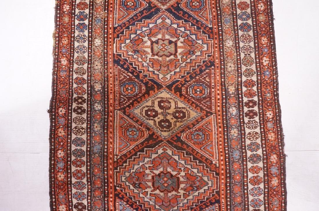 "13'10"" x 3'7"" Handmade Oriental Rug Carpet. Geome - 3"