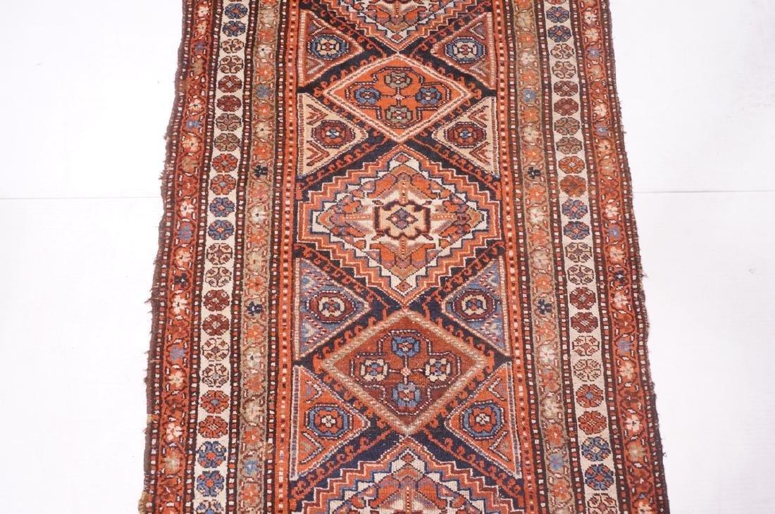 "13'10"" x 3'7"" Handmade Oriental Rug Carpet. Geome - 4"