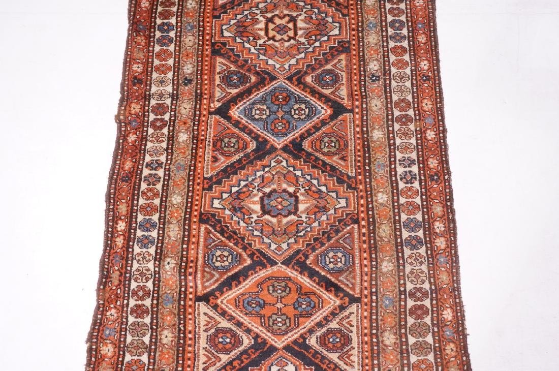 "13'10"" x 3'7"" Handmade Oriental Rug Carpet. Geome - 5"