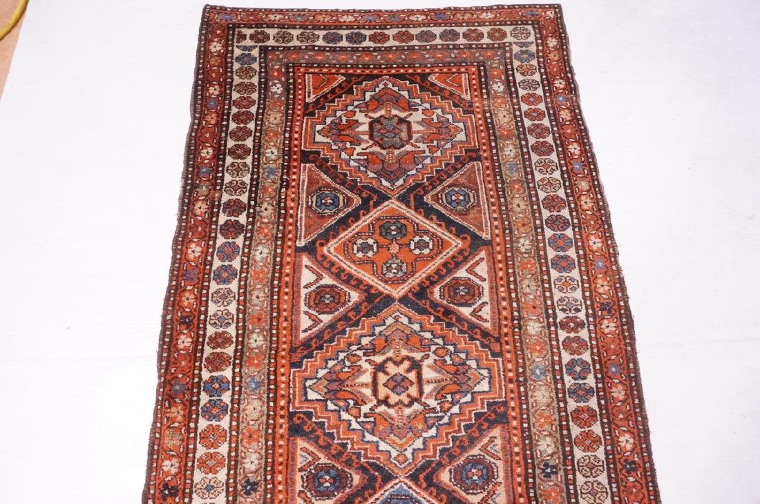 "13'10"" x 3'7"" Handmade Oriental Rug Carpet. Geome - 6"