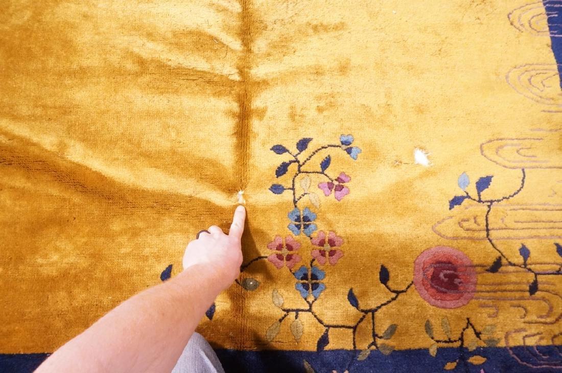 "11'9"" x 6'1"" Chinese Deco Handmade Rug Carpet. Go - 2"