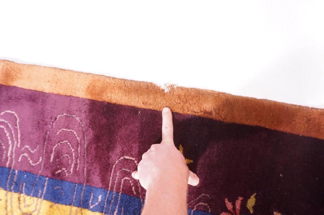 "11'9"" x 6'1"" Chinese Deco Handmade Rug Carpet. Go - 3"