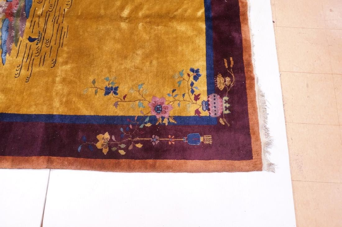 "11'9"" x 6'1"" Chinese Deco Handmade Rug Carpet. Go - 4"