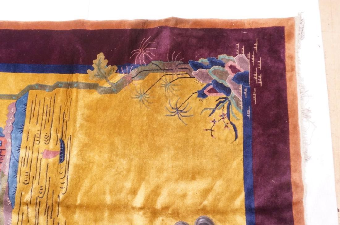 "11'9"" x 6'1"" Chinese Deco Handmade Rug Carpet. Go - 5"