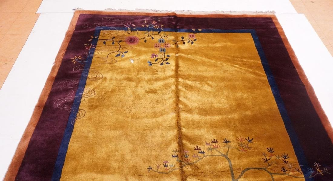 "11'9"" x 6'1"" Chinese Deco Handmade Rug Carpet. Go - 7"