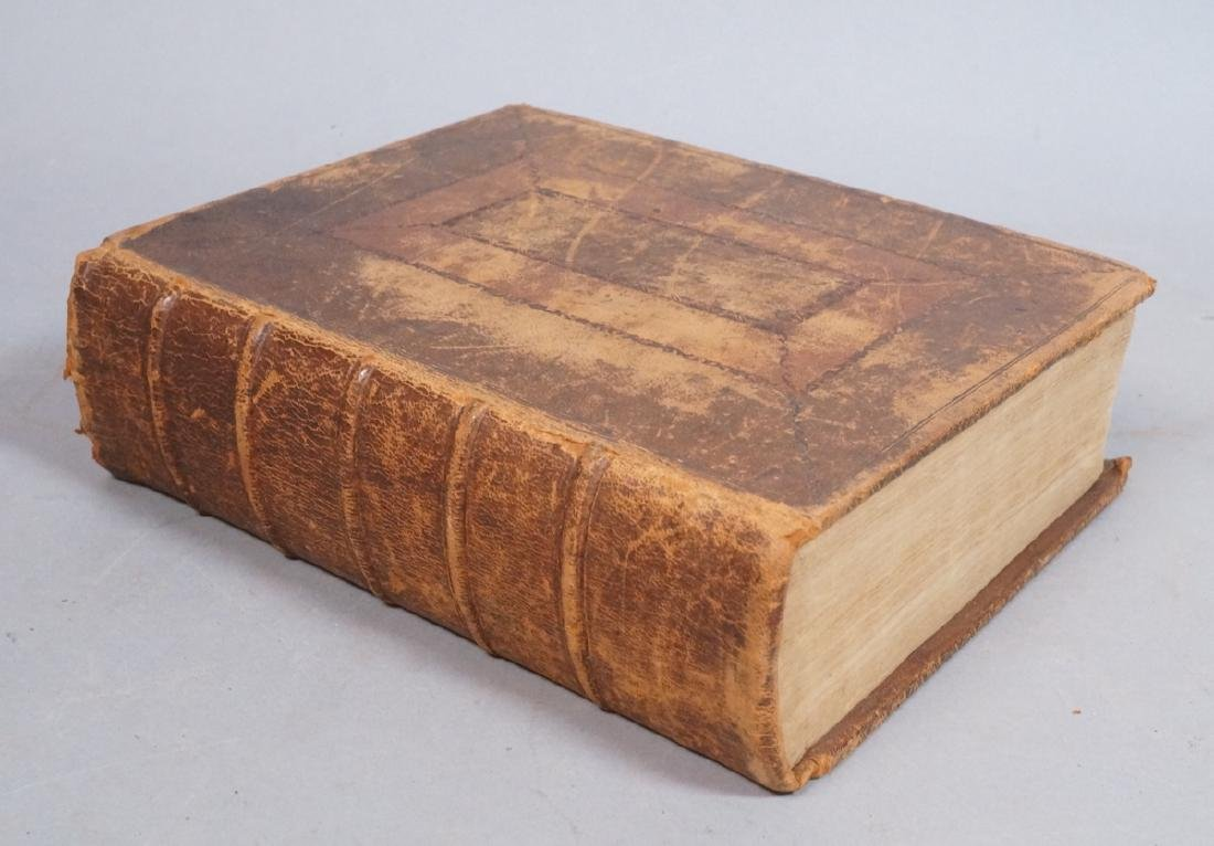 1791 Antique Leatherbound Holy Bible. Published i