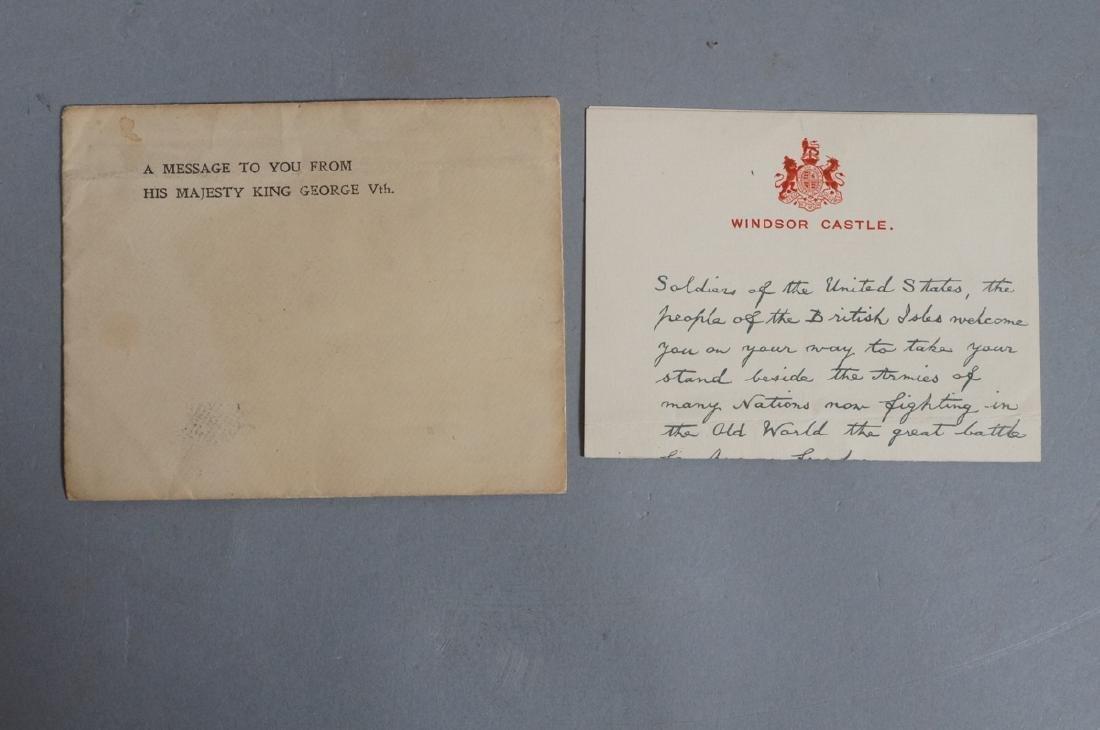 King George V Signed Letter on Windsor Castle Sta - 2