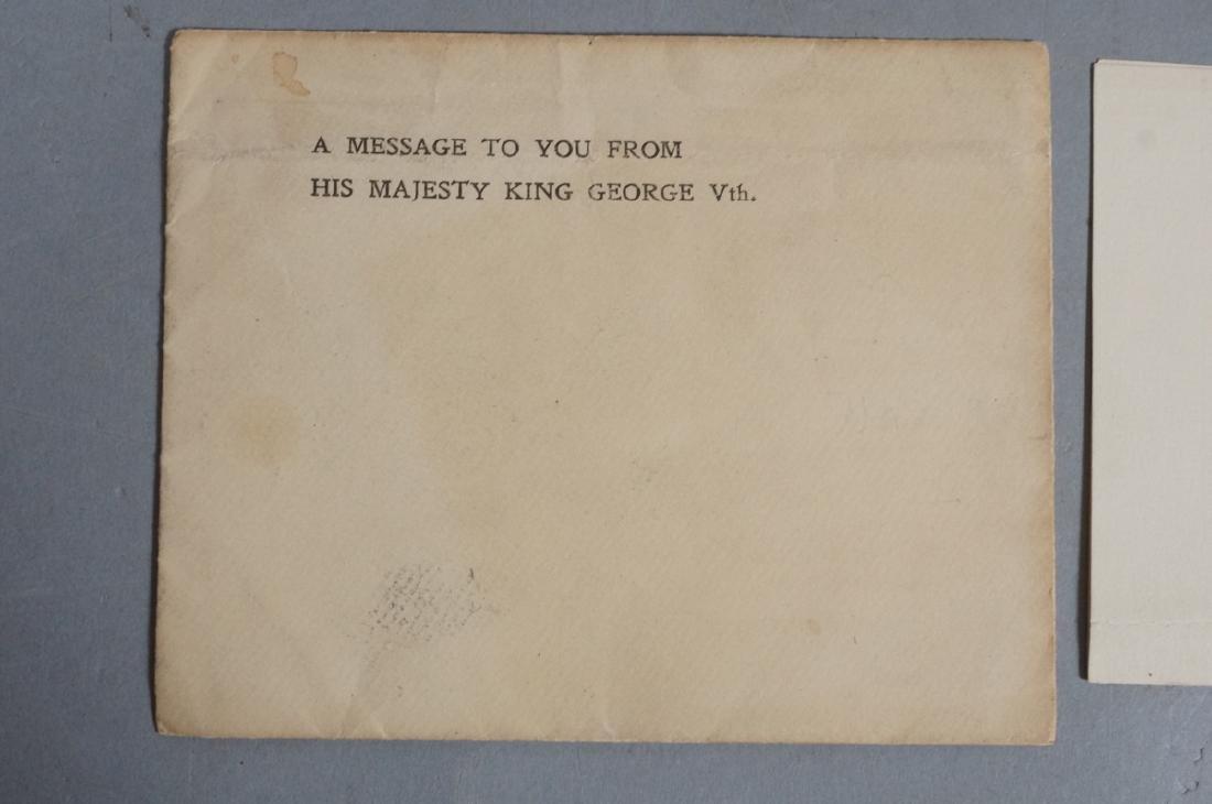 King George V Signed Letter on Windsor Castle Sta - 3