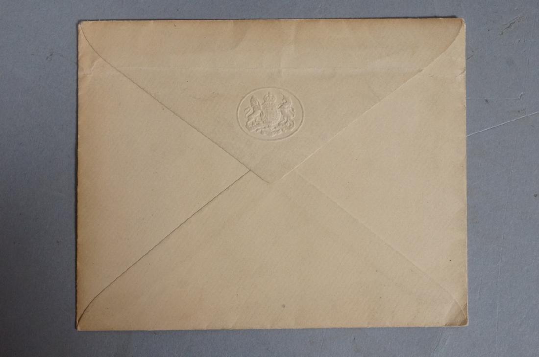 King George V Signed Letter on Windsor Castle Sta - 4