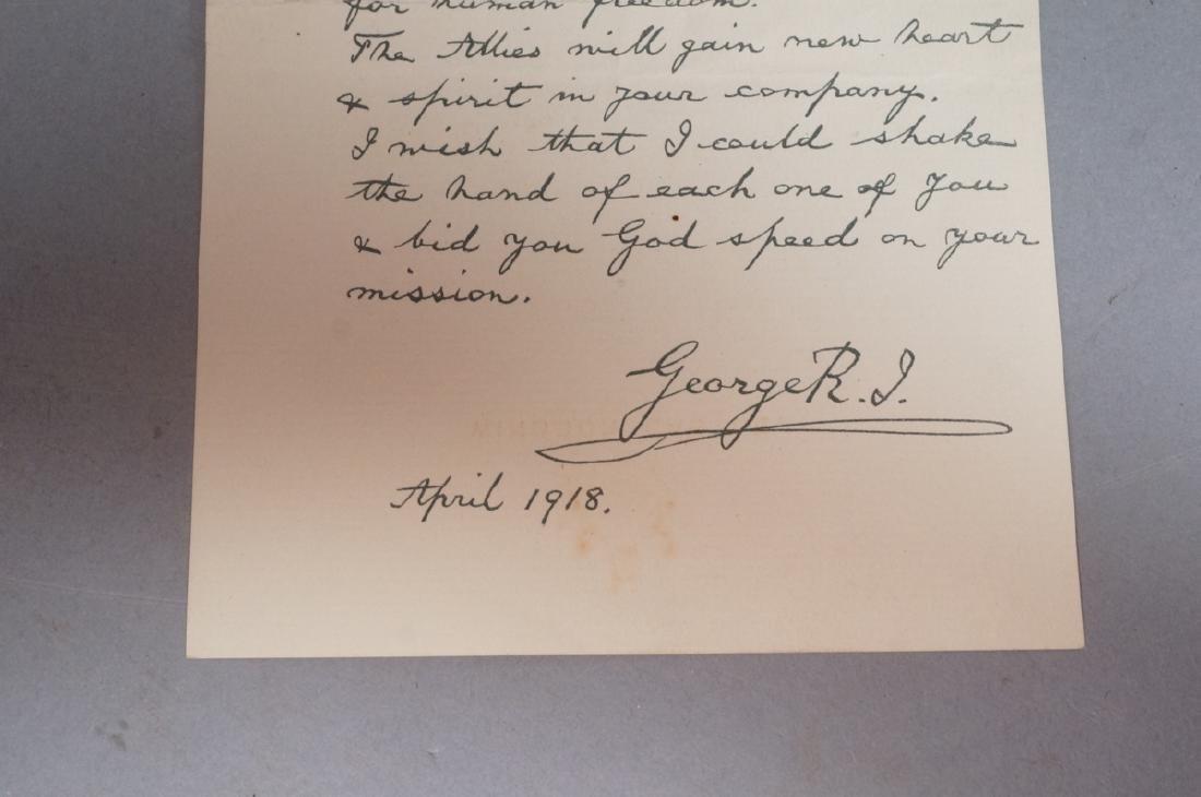 King George V Signed Letter on Windsor Castle Sta - 7