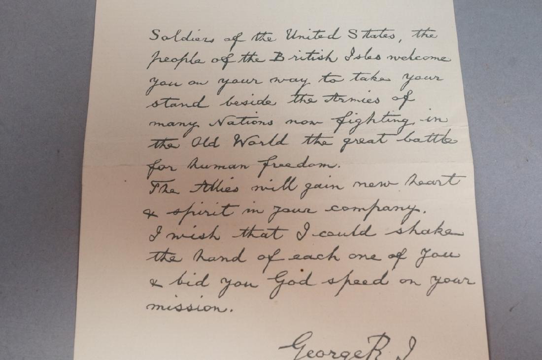 King George V Signed Letter on Windsor Castle Sta - 8