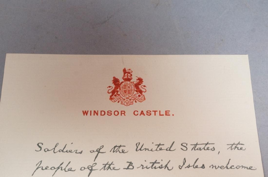 King George V Signed Letter on Windsor Castle Sta - 9