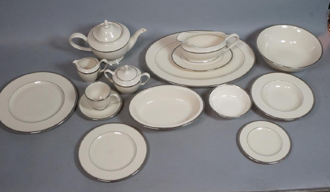 64pc LENOX Tuxedo Platinum China Dinnerware. Pres
