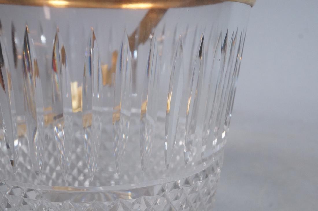 Vintage Cut Crystal Ice Bucket Gilt Metal Trim & - 10
