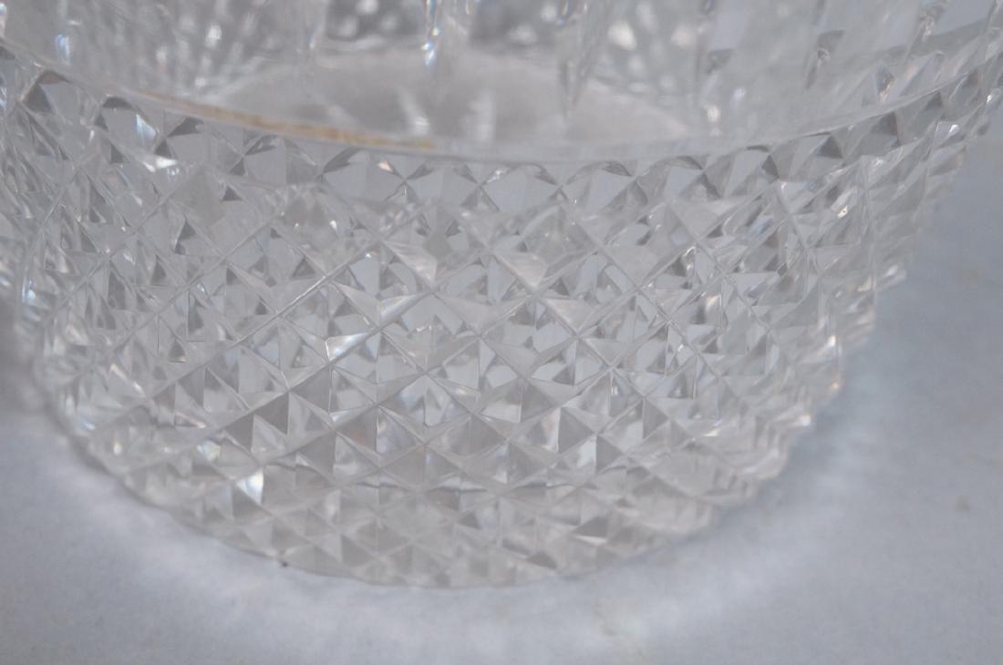 Vintage Cut Crystal Ice Bucket Gilt Metal Trim & - 9