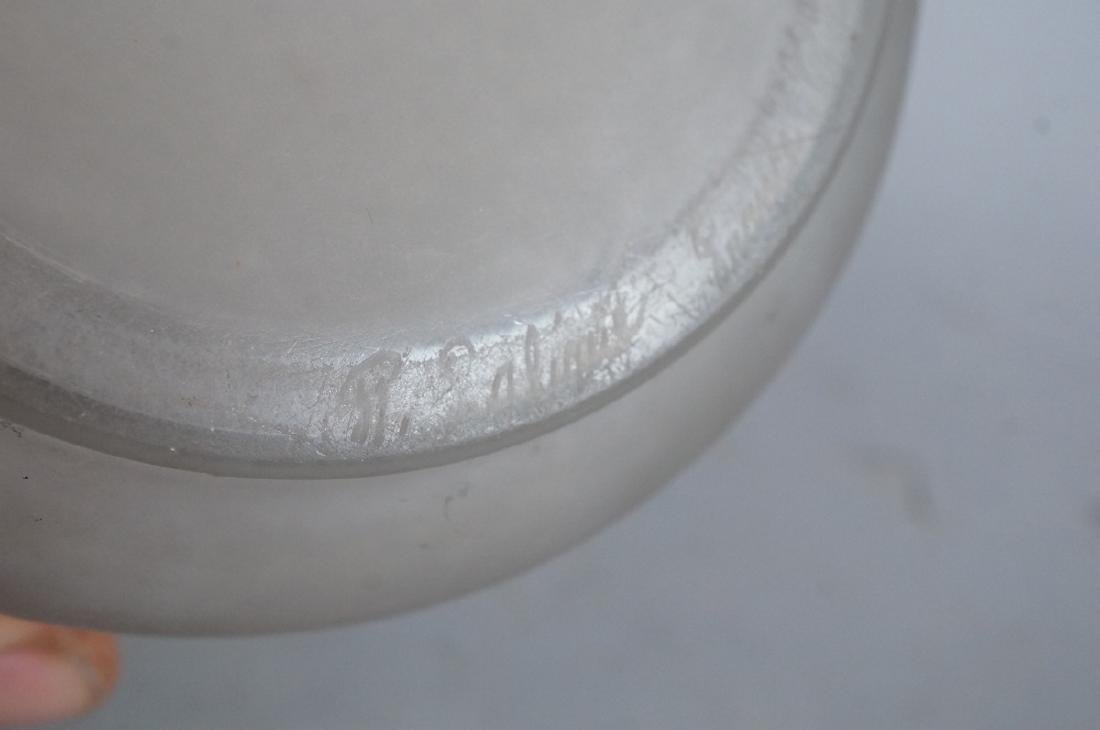 RENE LALIQUE French Crystal Vase. Clear frosted g - 7