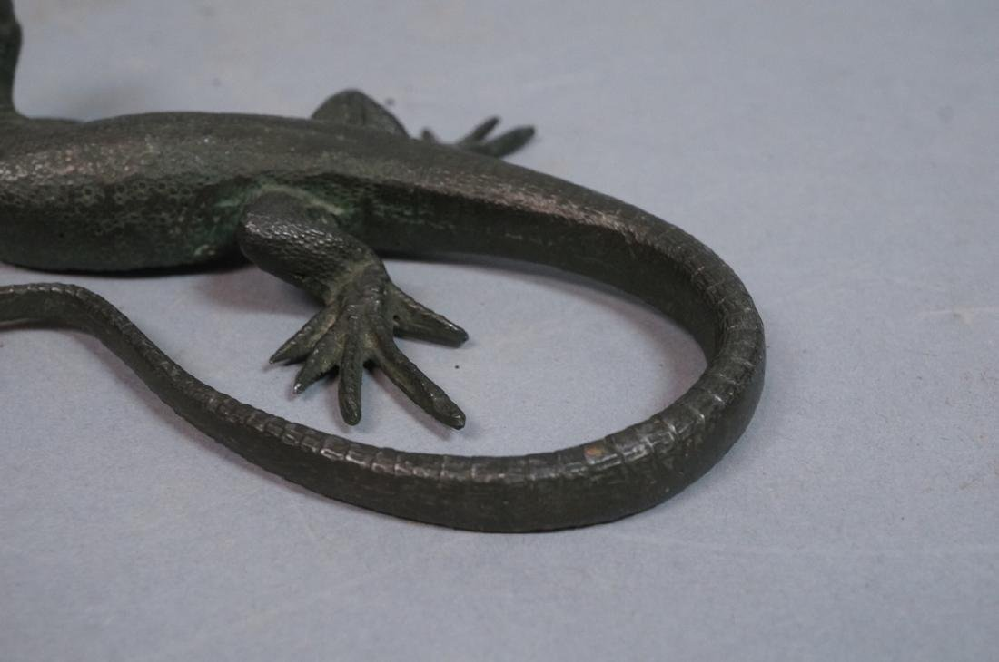 Italian Cast Bronze Lizard Figural Sculpture. Det - 10