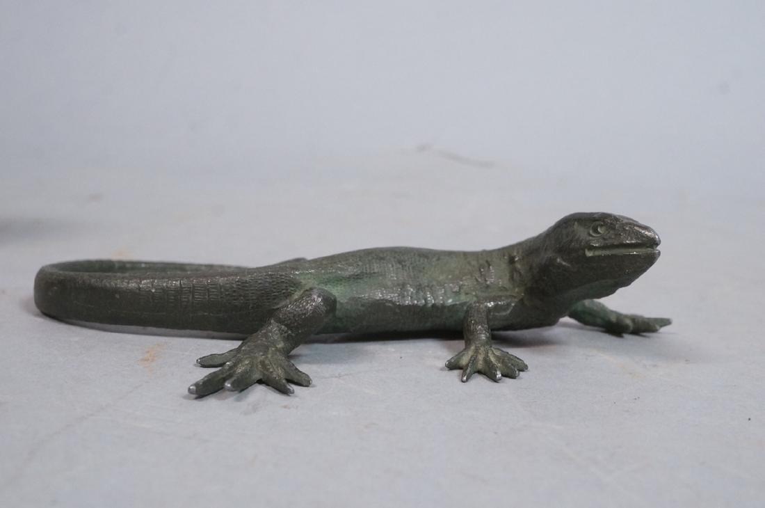 Italian Cast Bronze Lizard Figural Sculpture. Det - 2