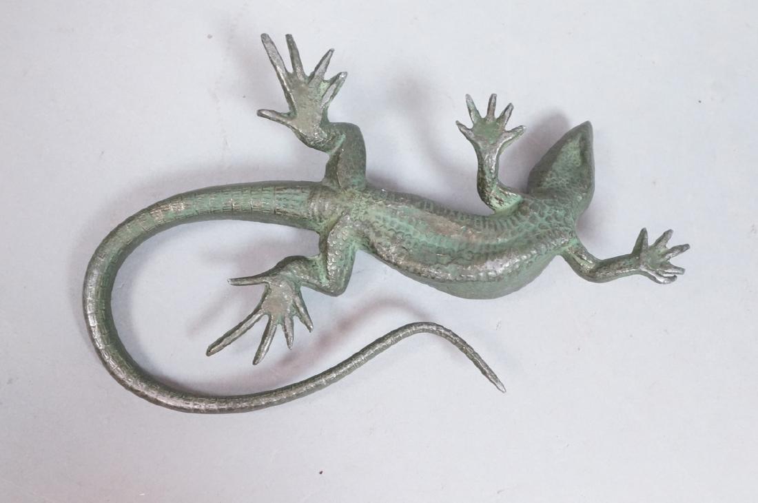 Italian Cast Bronze Lizard Figural Sculpture. Det - 3