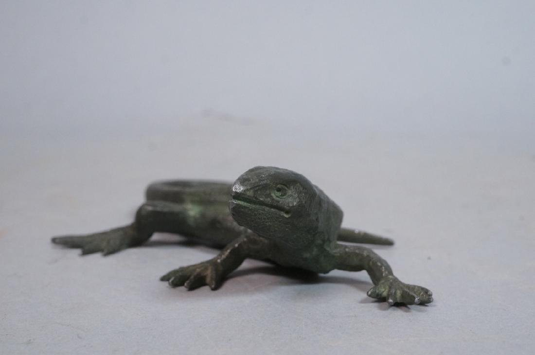 Italian Cast Bronze Lizard Figural Sculpture. Det - 4