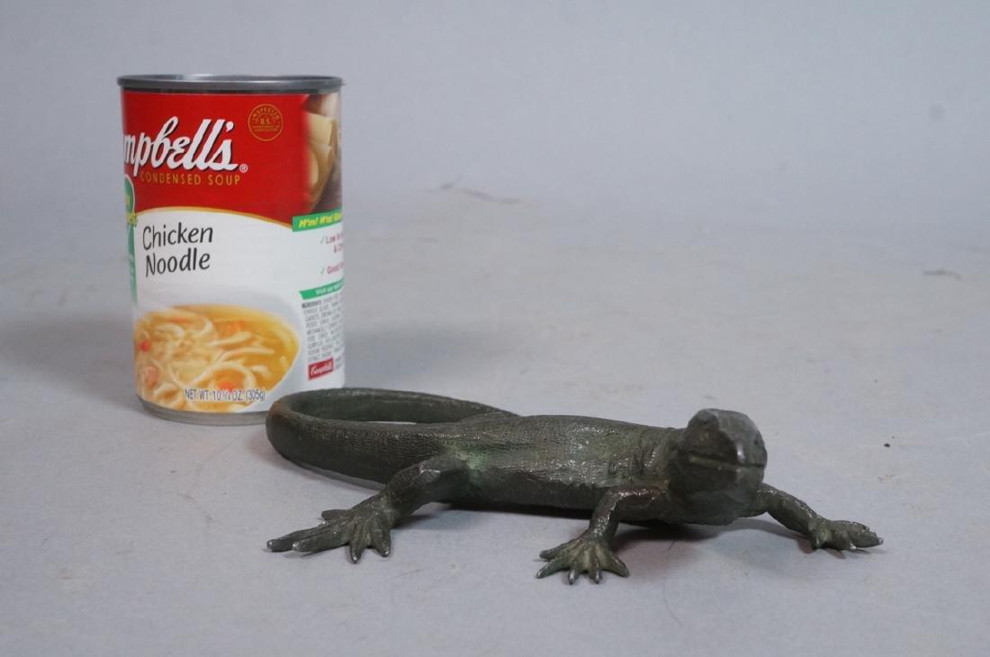 Italian Cast Bronze Lizard Figural Sculpture. Det - 5