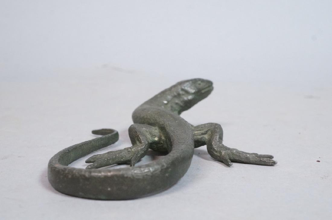Italian Cast Bronze Lizard Figural Sculpture. Det - 6