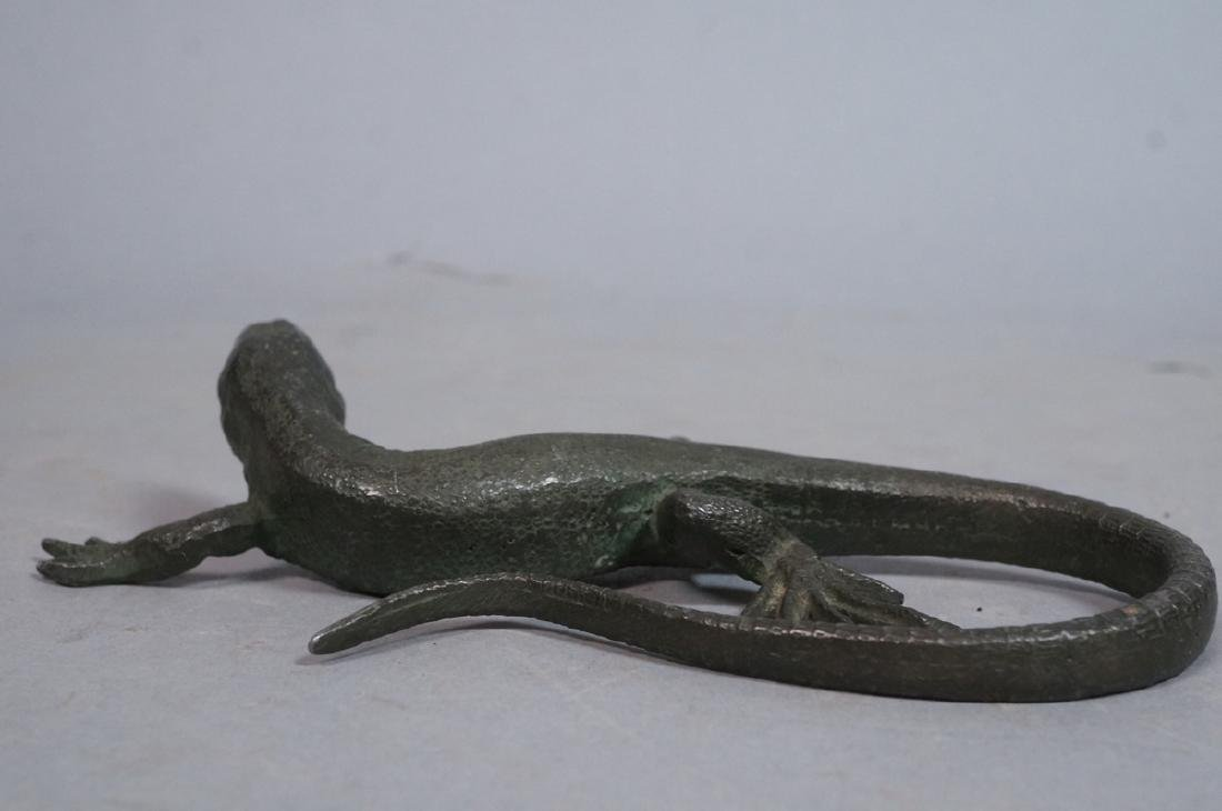 Italian Cast Bronze Lizard Figural Sculpture. Det - 7