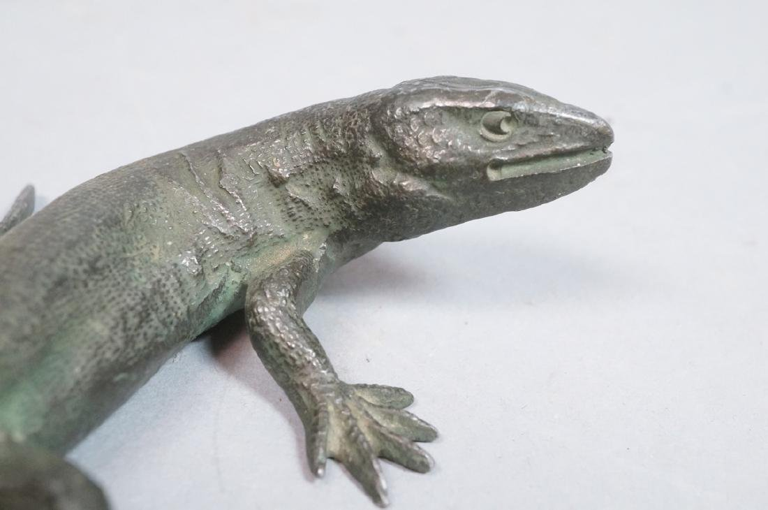 Italian Cast Bronze Lizard Figural Sculpture. Det - 8