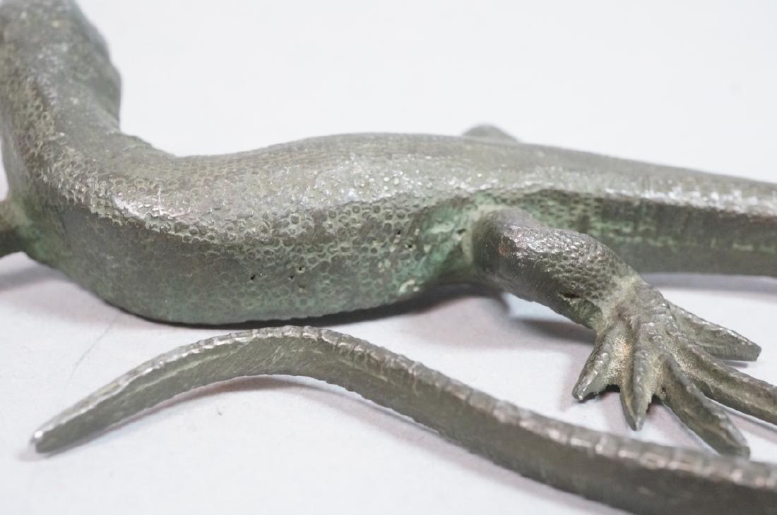 Italian Cast Bronze Lizard Figural Sculpture. Det - 9
