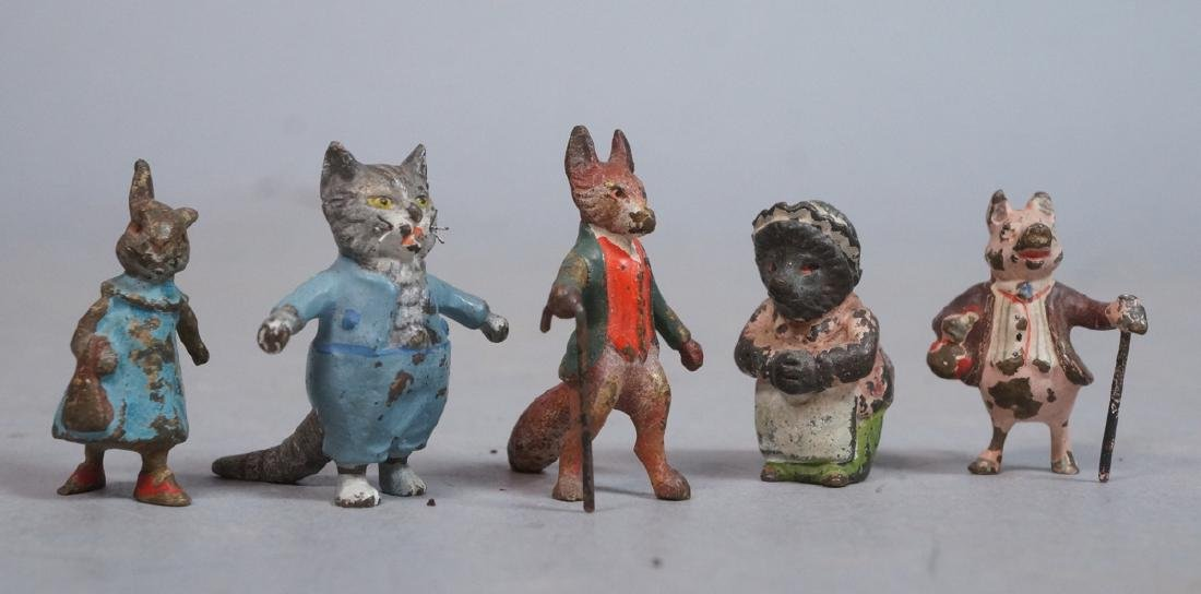 5 Small Austrian Cold Painted Bronze Sculptures.