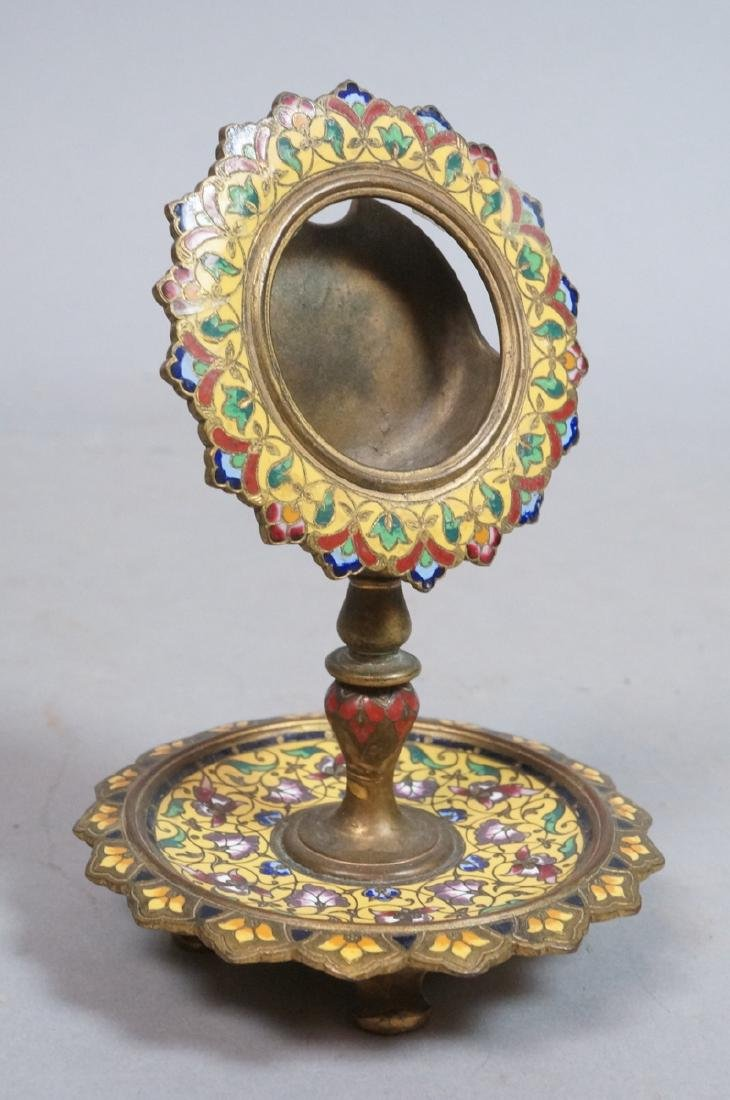 Antique Cloisonne Enamel Pocket Watch Holder. Foo