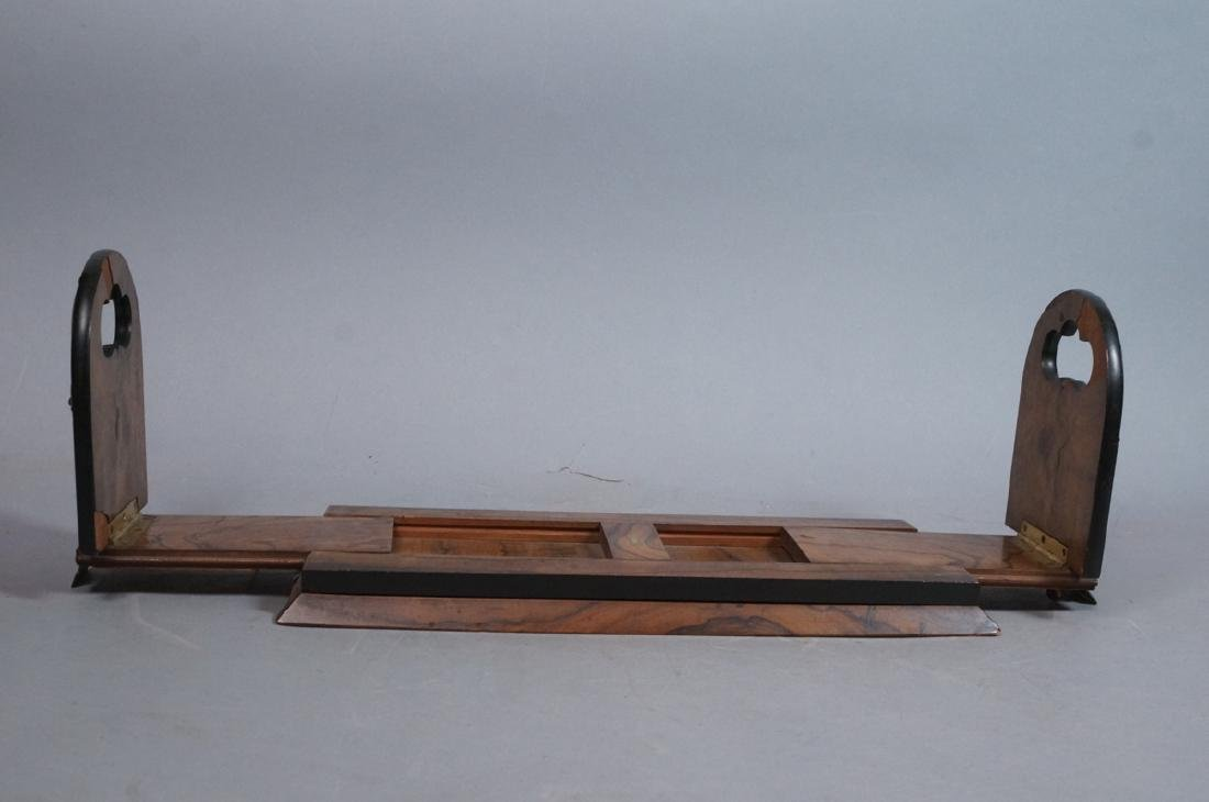 TIFFANY REED & CO. Burled wood book ends. Applied - 3