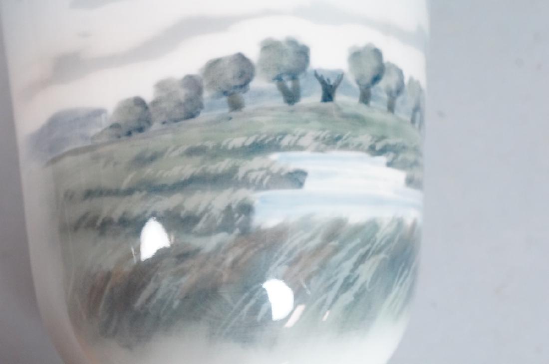 ROYAL COPENHAGEN Lg Denmark Vase. Scenic Landscap - 10