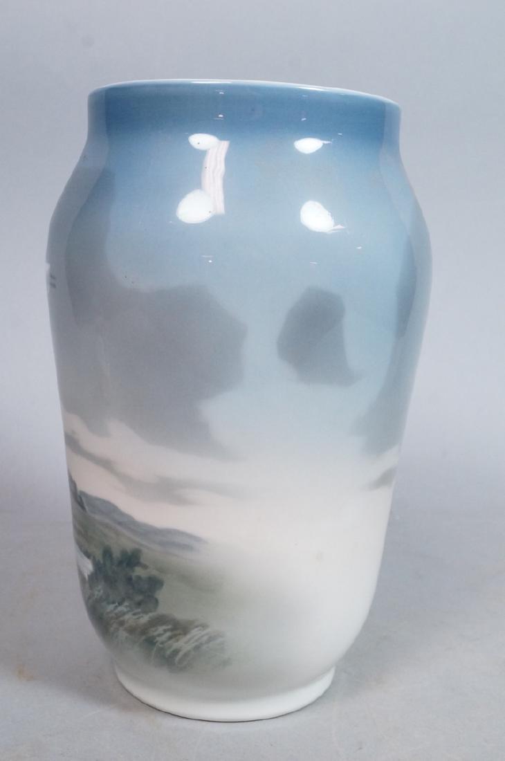 ROYAL COPENHAGEN Lg Denmark Vase. Scenic Landscap - 3