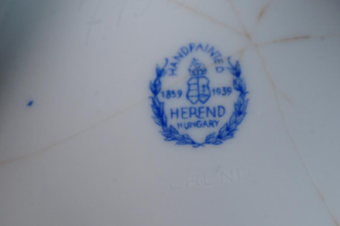 HEREND Hand Painted Tapered Square Vase. Hungaria - 5