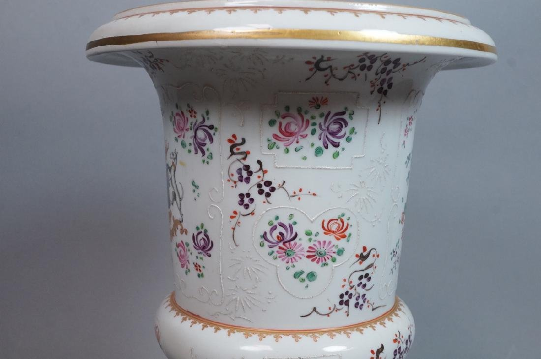 HEREND Hand Painted Tapered Square Vase. Hungaria - 8