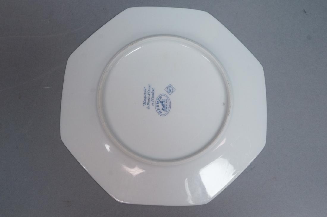 """10 HERMES Small Porcelain Plates Paris France. """"M - 4"""