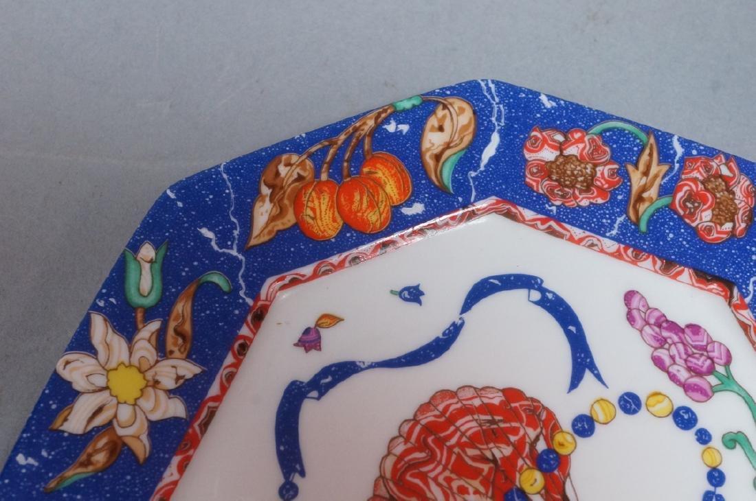 """10 HERMES Small Porcelain Plates Paris France. """"M - 9"""