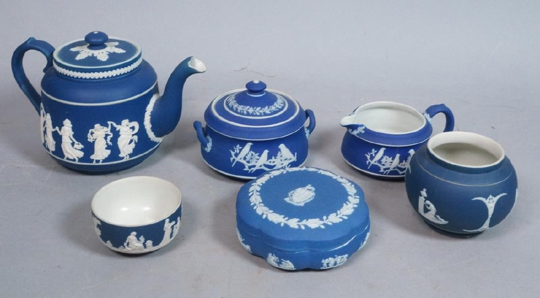 6pc WEDGWOOD Blue Basalt English Porcelain. 1) Ad