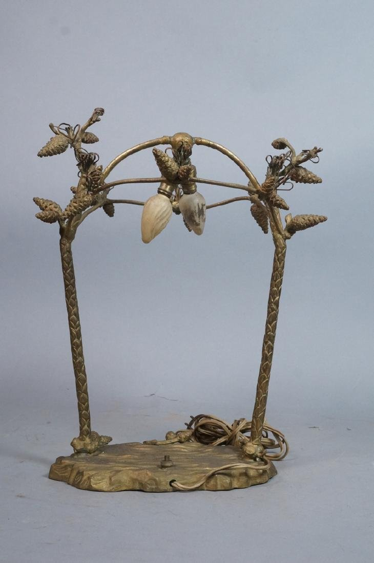 Figural Metal Pine cone Twig Lamp Base. Upright p - 4