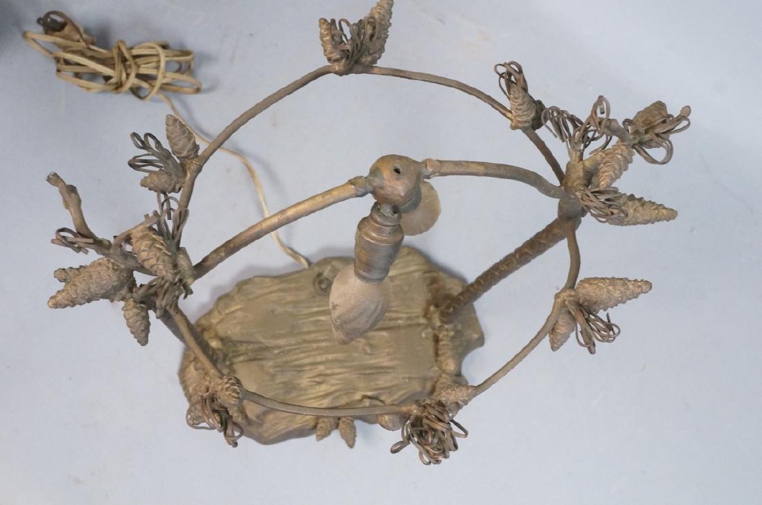 Figural Metal Pine cone Twig Lamp Base. Upright p - 6