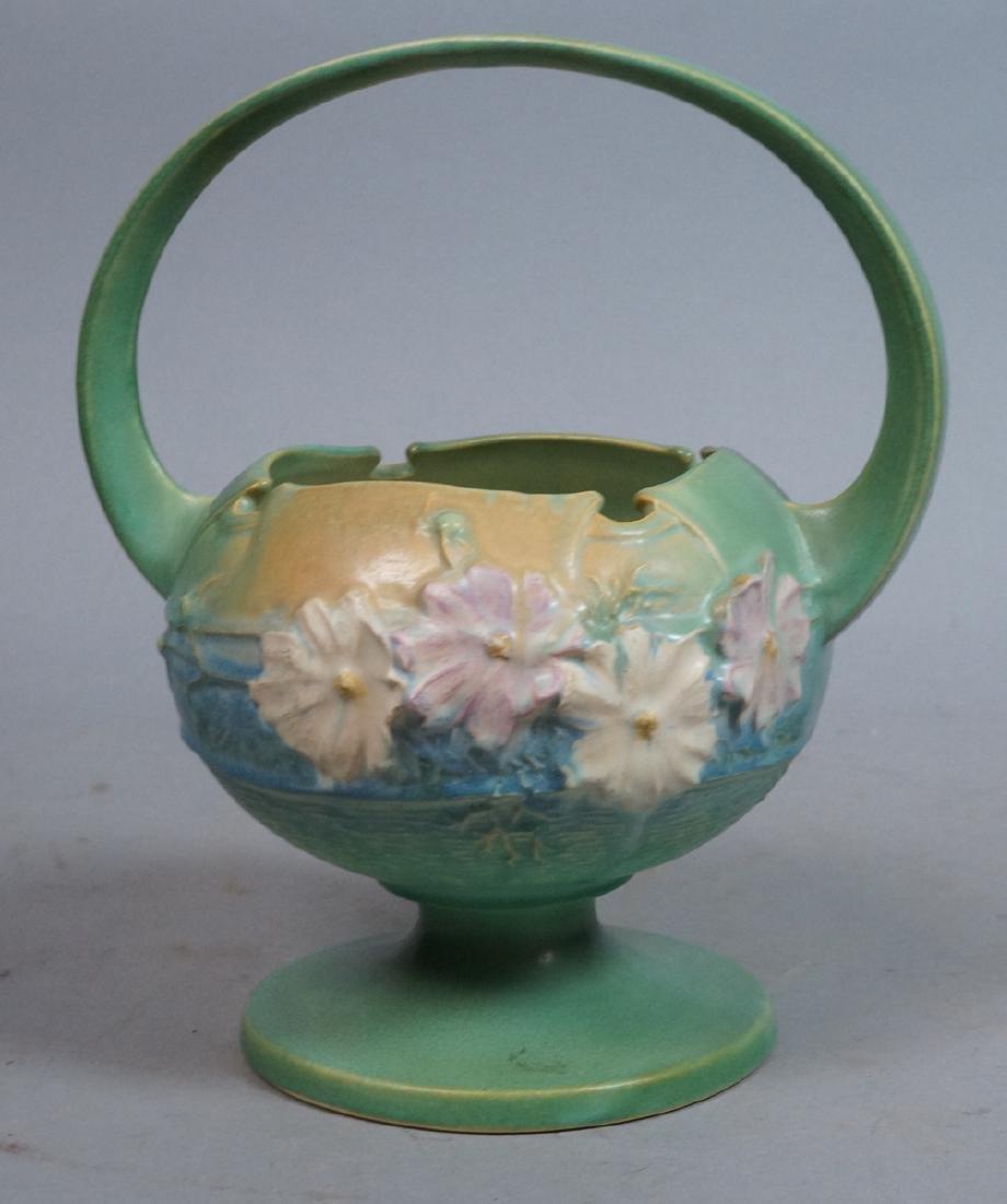 ROSEVILLE Amer. Art Pottery Cosmos Handled Vase.